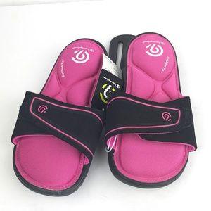 c033ba28961 C9 by Champion Shoes - Black Pink Girls Sport Memory Foam Slide Sandals